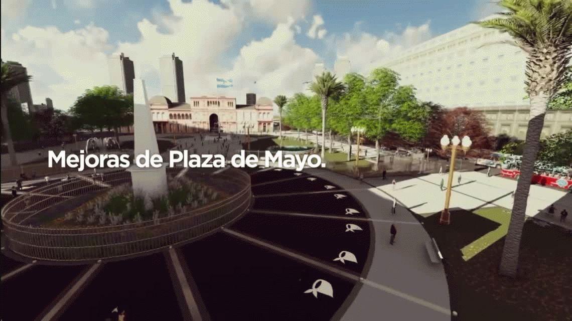 Así será la nueva Plaza de Mayo