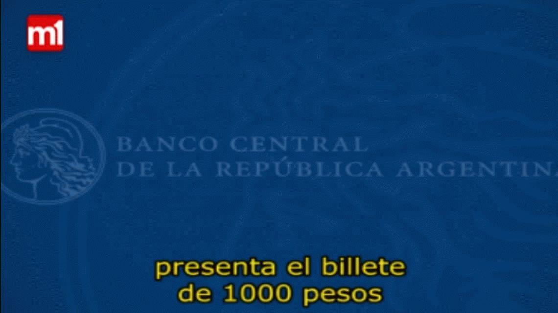 Este viernes comienza a circular el billete de 1.000 pesos