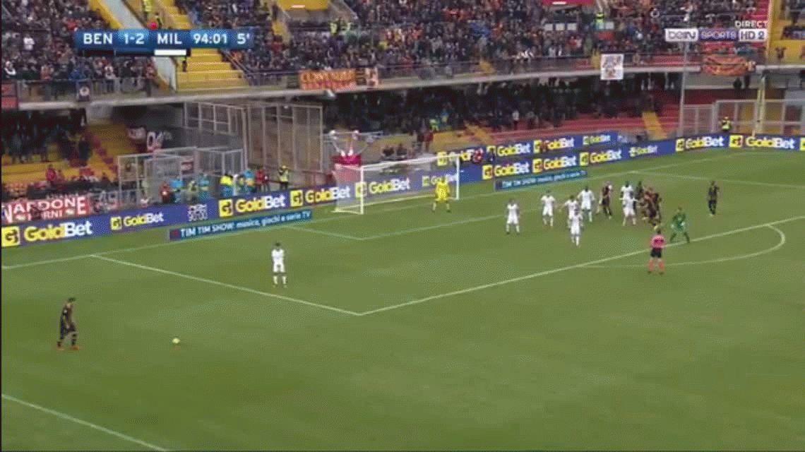 El increíble gol del arquero del Benevento con el que rompió una racha histórica