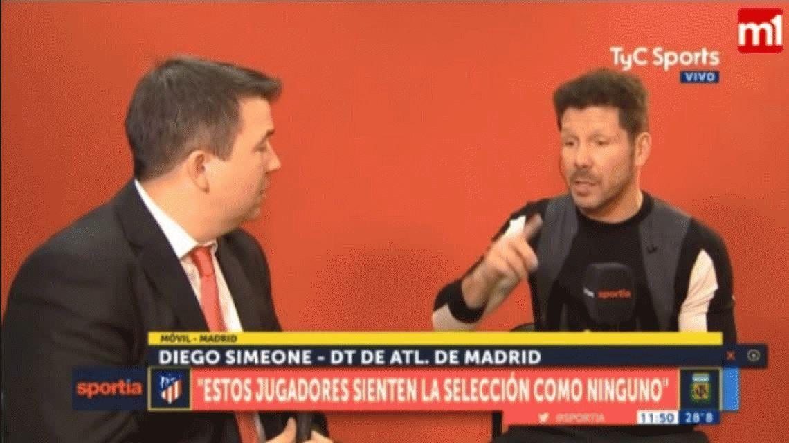 Simeone se diferenció de Jorge Sampaoli: Tenemos que parecernos a Alemania