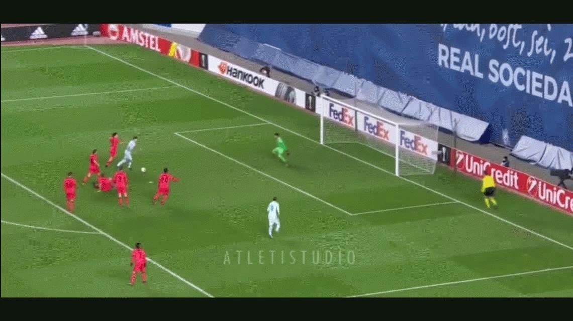 El golazo de futsal de Leandro Paredes que cautivó a todos en la Europa League