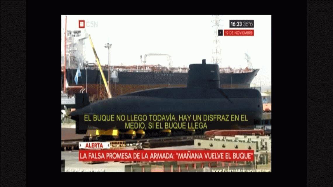 La Armada, a los familiares del ARA San Juan: Si llega, ¿de qué se disfrazan?