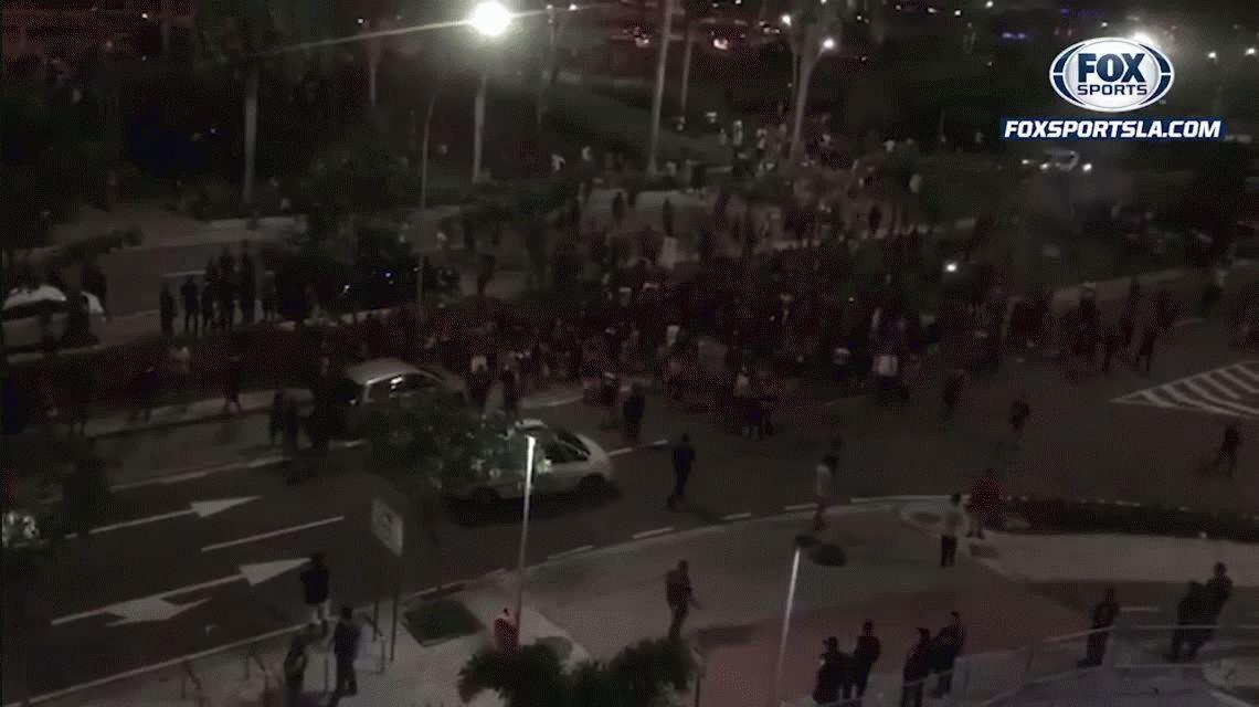 Serios incidentes entre hinchas de Independiente y Flamengo en Río de Janeiro