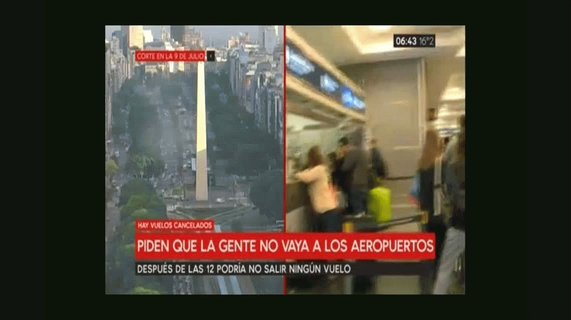 El reclamo de una pasajera por los vuelos cancelados: Hace 12 años que no venía al país, ¡qué cabreo!