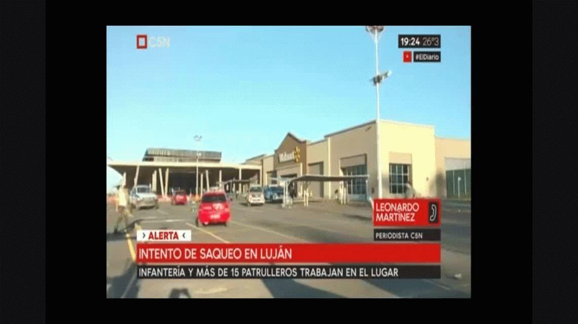 Tensión en Luján: 100 personas intentaron saquear un supermercado