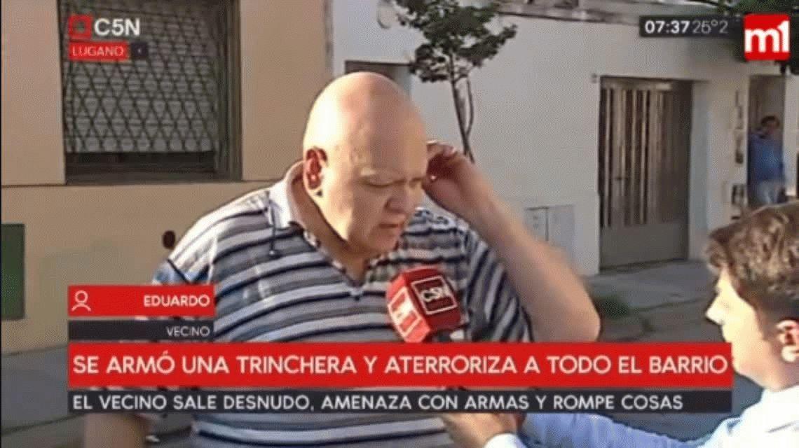 Villa Lugano: un hombre desnudo se atrincheró en su casa y amenaza a sus vecinos