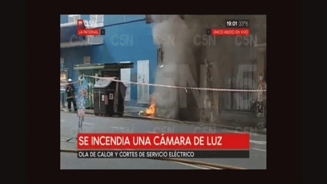 Varias manzanas quedaron sin luz por el incendio de una cámara de Edesur en La Paternal