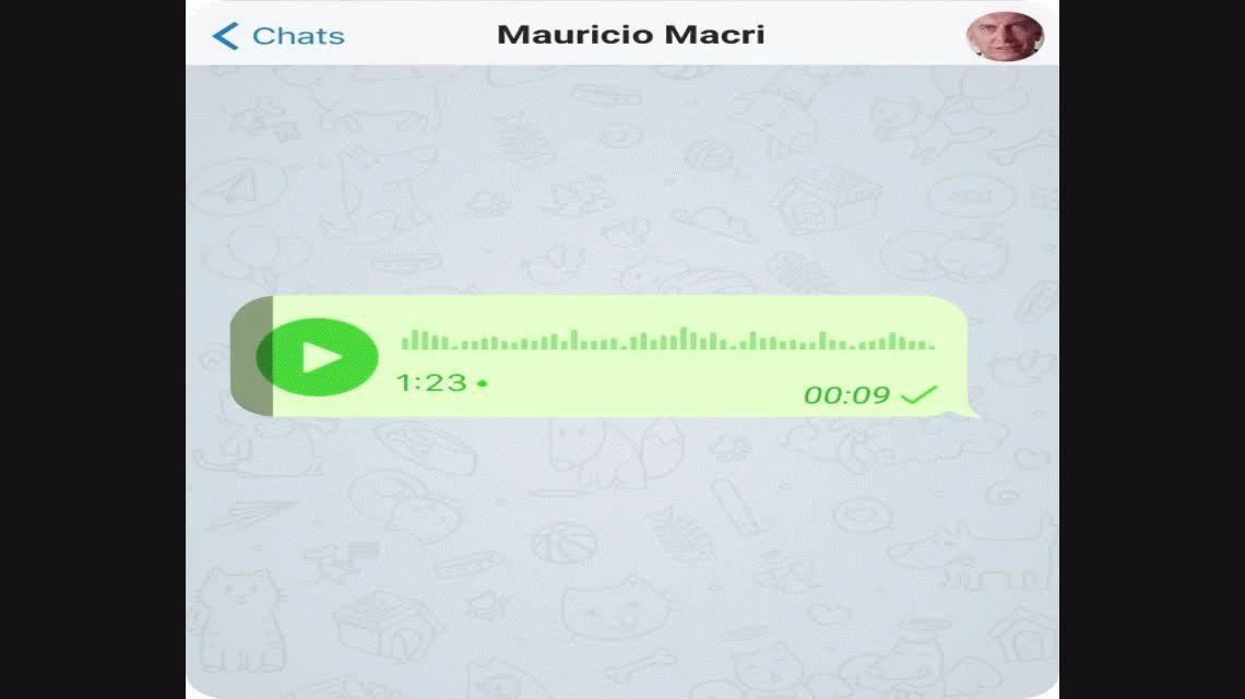 El saludo del presidente Macri por Año Nuevo: 1:23 de audio con ráfagas de viento