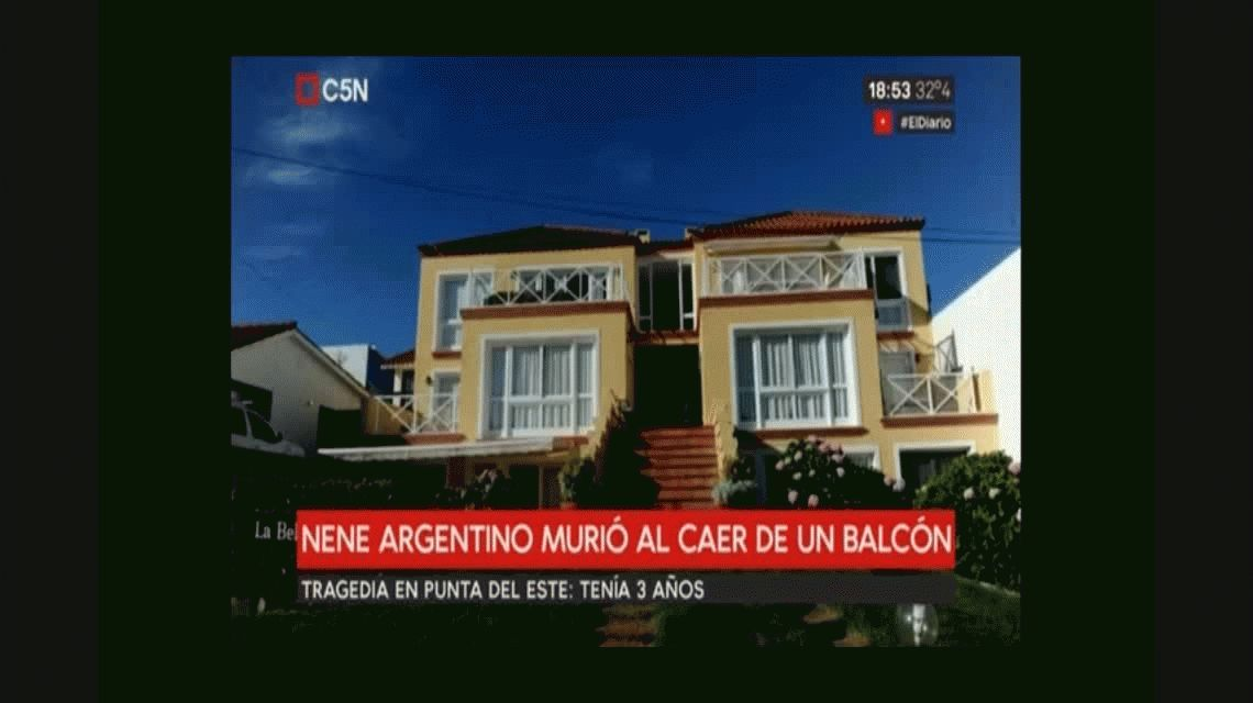 Punta del Este: un nene argentino murió al caer de una ventana