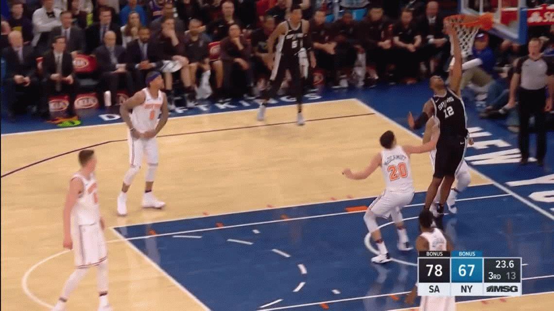 El triple increíble de Ginóbili en la victoria de los Spurs ante los Knicks