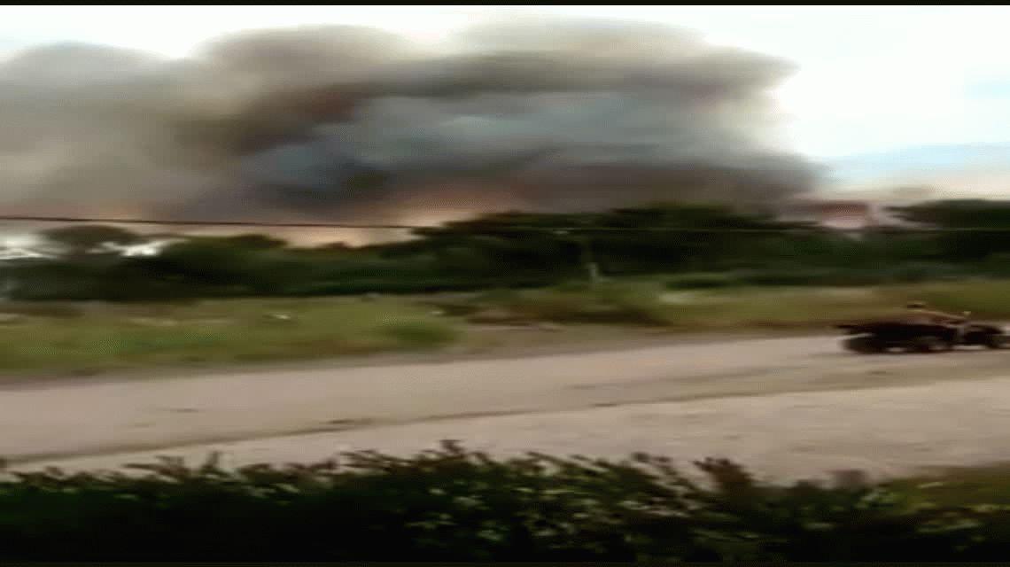 Incendio en un monte de Villa Gesell: el humo llegó hasta la playa