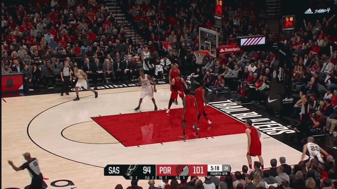 Ginóbili igualó un récord de Michael Jordan pero los Spurs perdieron con los Blazers