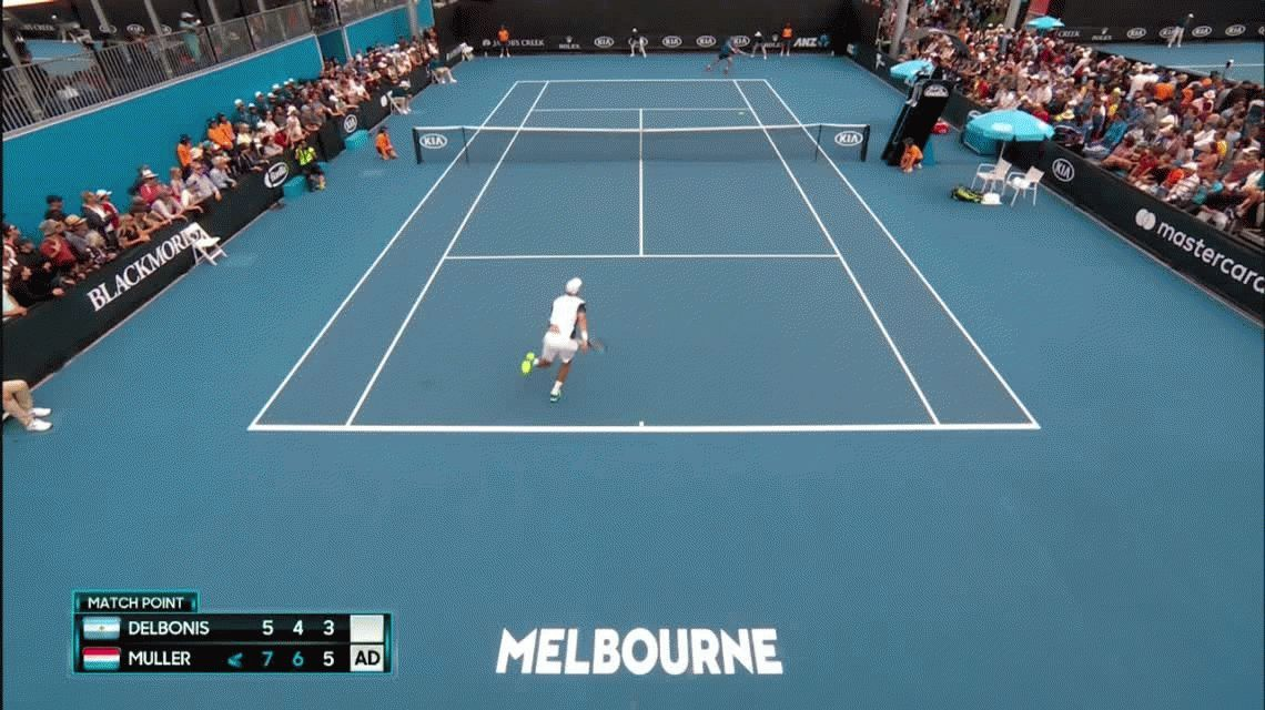 Debut y despedida: Delbonis, el primer argentino eliminado en Australia