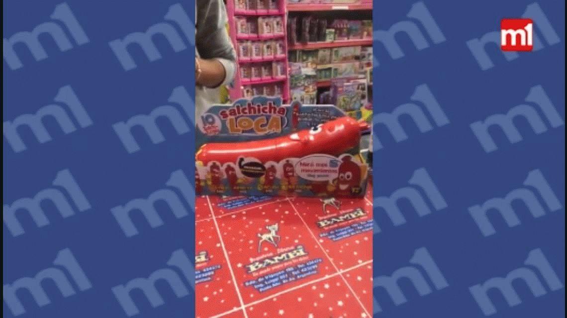 La salchica loca, el polémico juguete que se vende para los niños