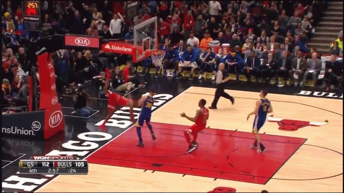 El terrible golpe de un jugador de NBA