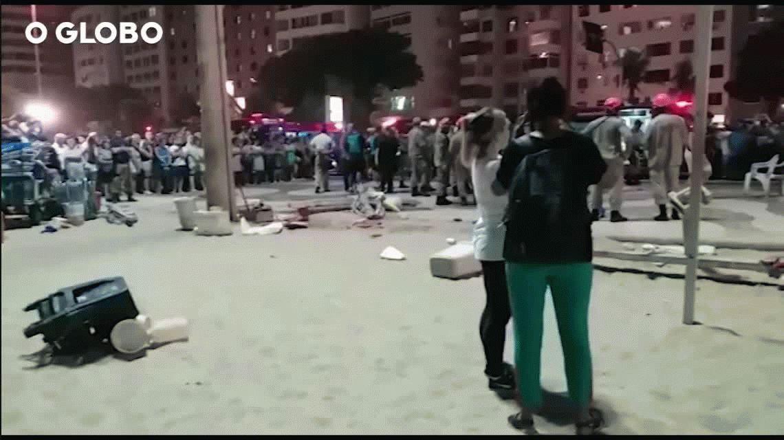 Perdió el control de su auto en la rambla de Copacabana, mató a una bebé e hirió a 16 personas
