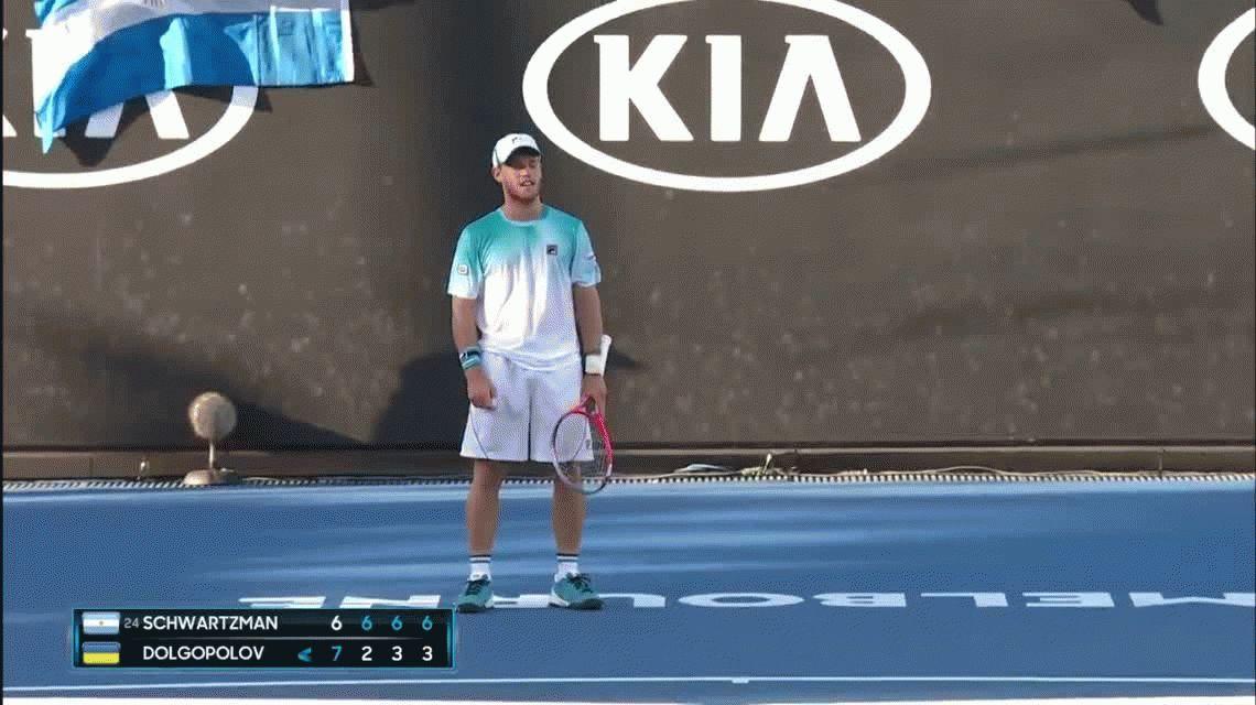 Schwartzman remontó un duro partido ante Dolgopolov y ahora le puede tocar Nadal