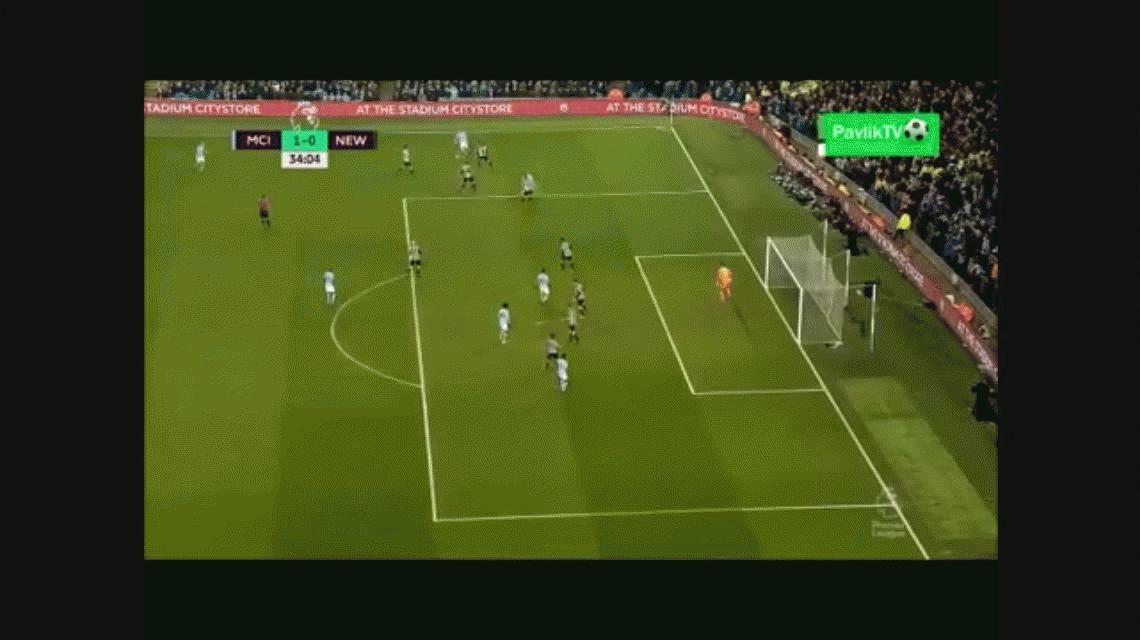 Brillante: el triplete del Kun Agüero en el triunfo de Manchester City ante Newcastle