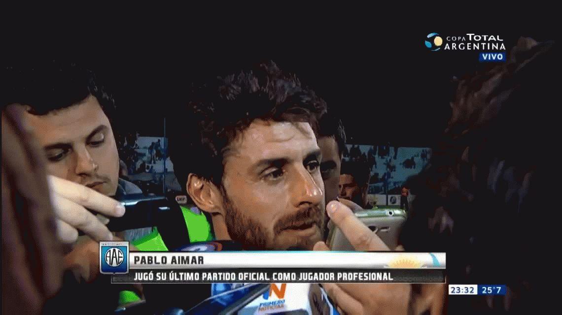 La emoción de Aimar en su despedida al hablar de Marcelo Bielsa
