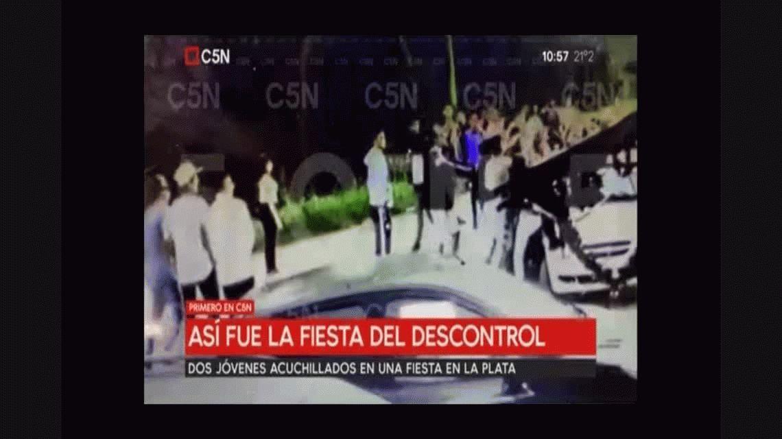 VIDEO: Así fue el momento en el que acuchillaron a los dos jóvenes en La Plata