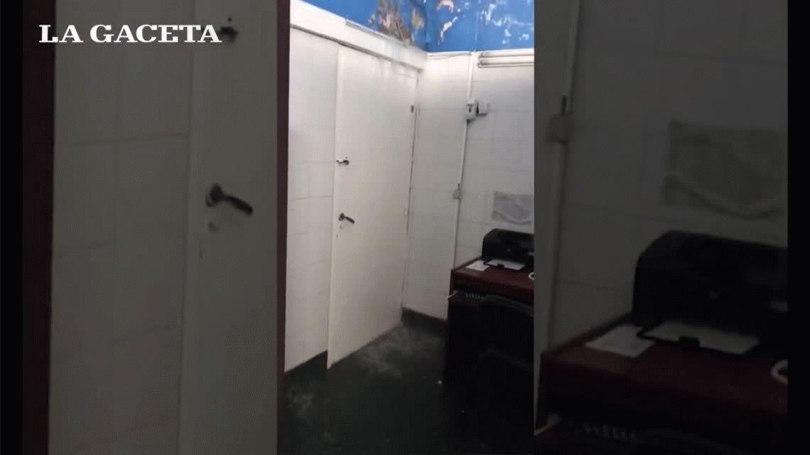 VIDEO: por el temporal en esa ciudad, se inundó el Hospital del Niño Jesús de Tucumán