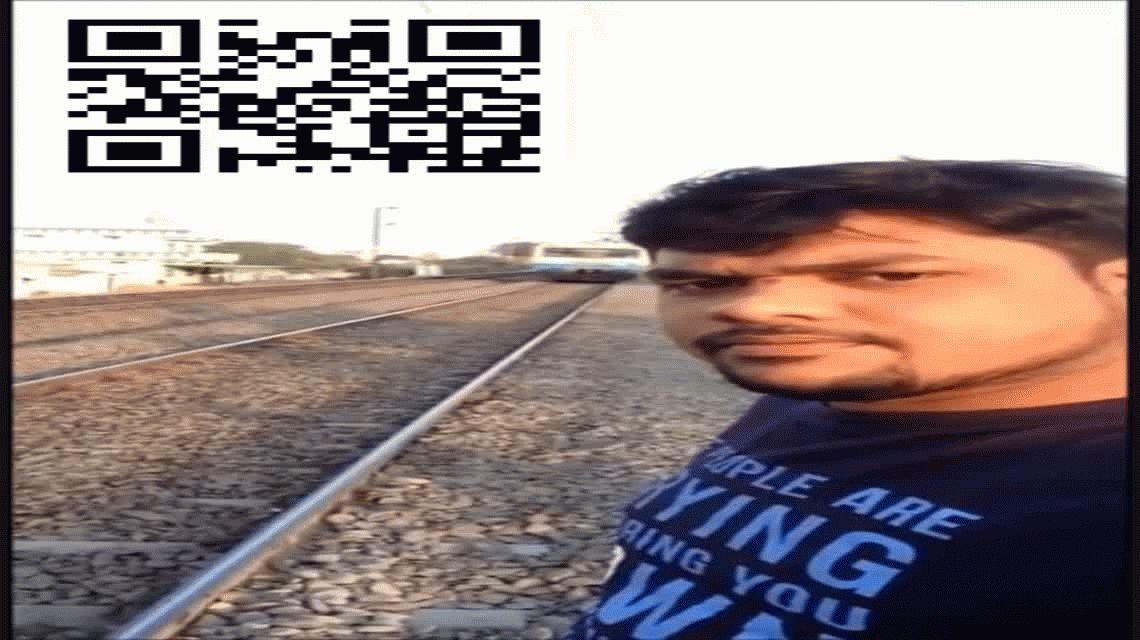 VIDEO: Fue arrollado por un tren cuando intentaba tomarse una selfie