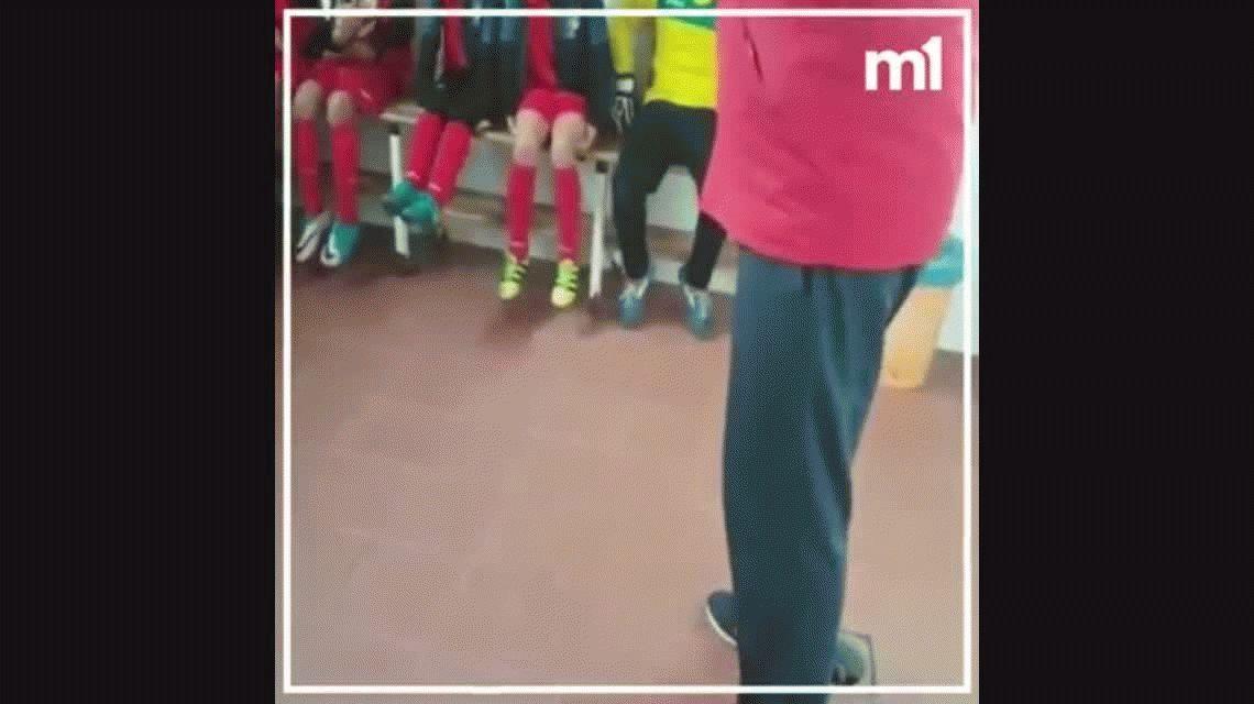 Para guardar: la conmovedora charla anti goleada de un entrenador infantil