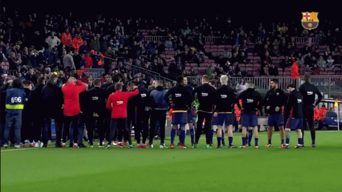 VIDEO: La emotiva despedida de Barcelona a Mascherano en el Camp Nou