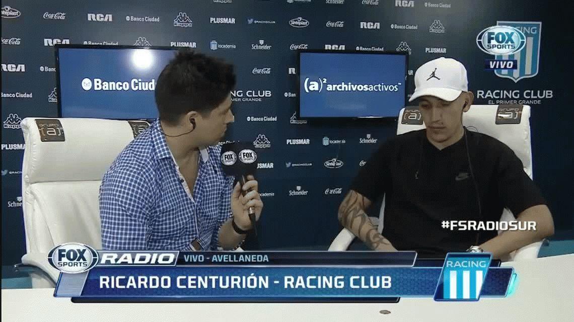 Racing: falto de fútbol, Centurión va al banco contra Huracán