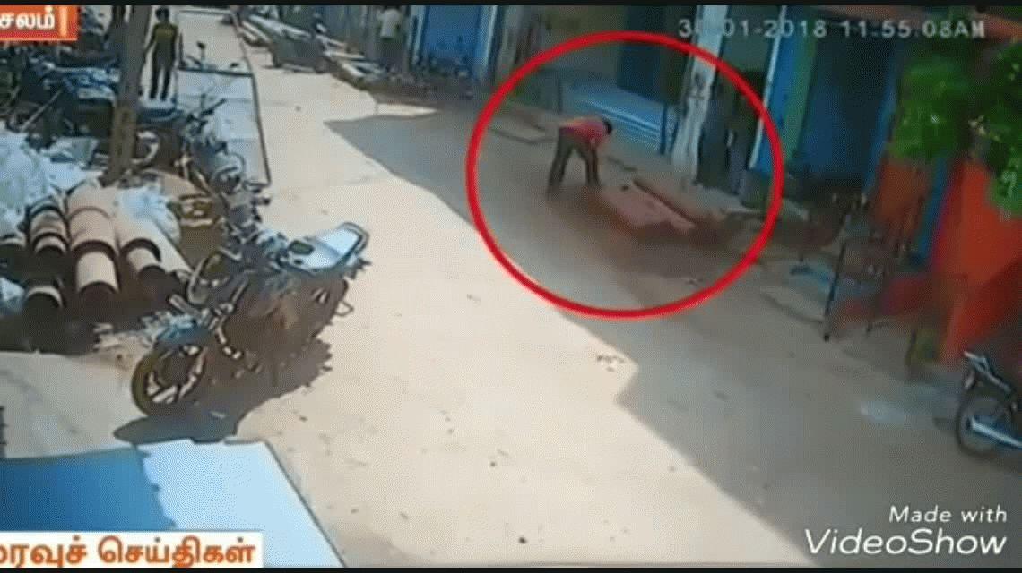 VIDEO: Abrió una bomba de gas y salió disparada por la calle como un misil