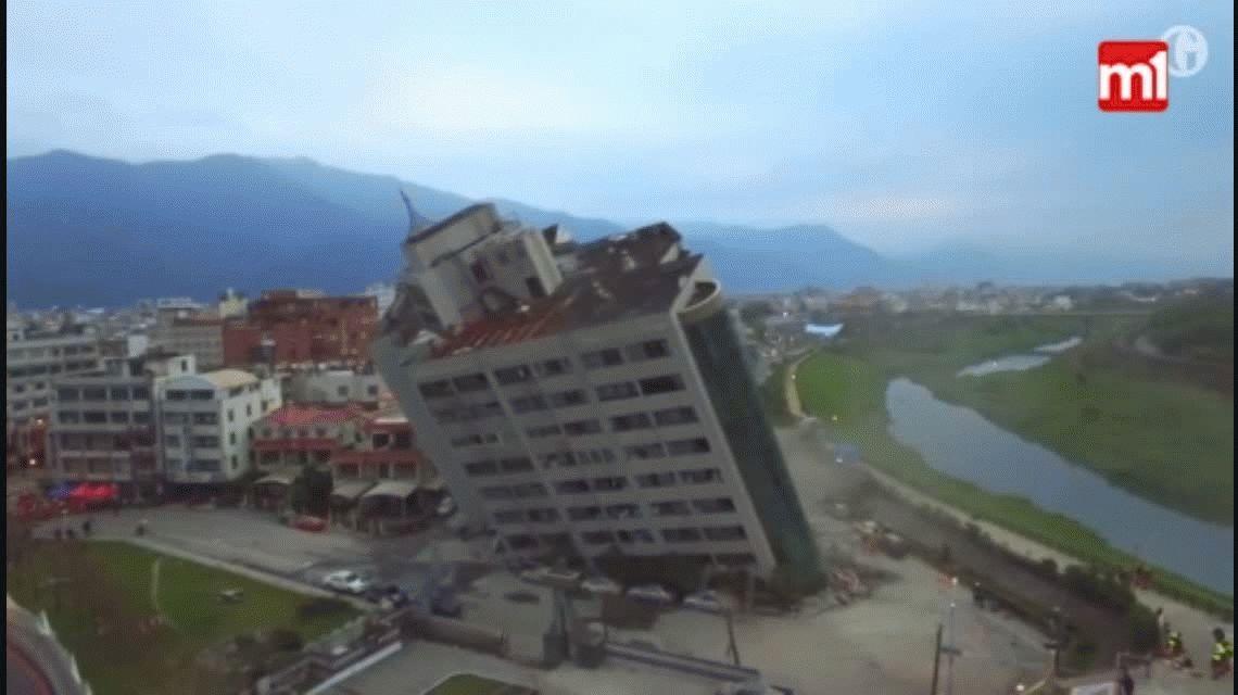 Terremoto de 6,4 grados en Taiwán dejó siete muertos y 145 desaparecidos