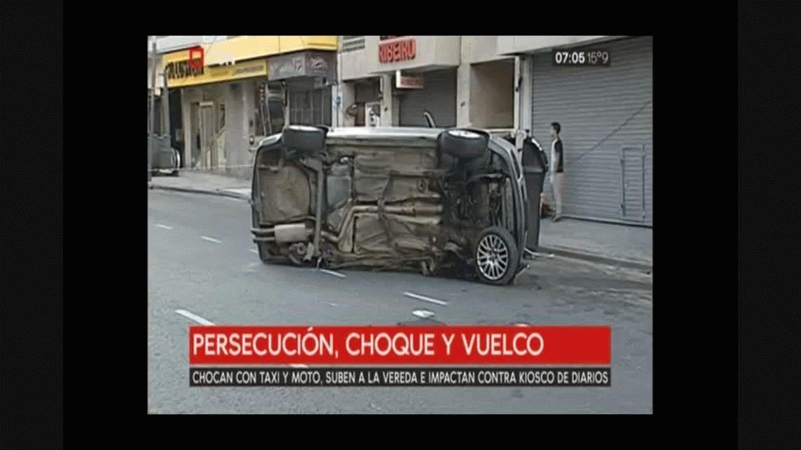 Persecución y vuelco en Almagro: participaron 20 patrulleros y 40 efectivos