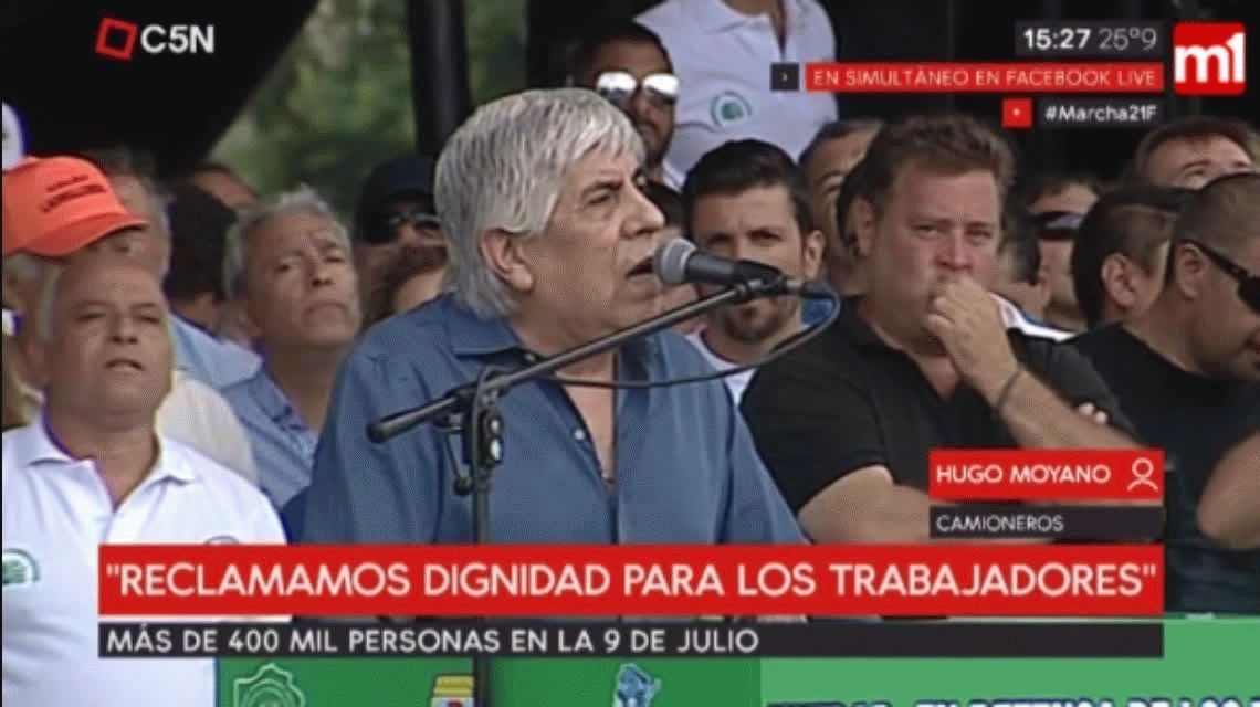 Hugo Moyano, el día después de la marcha: Si el Presidente me convoca, me reuniría con él