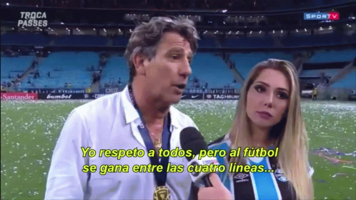 Renato Gaúcho fue lapidario con el Brujo Manuel, el talismán de Independiente