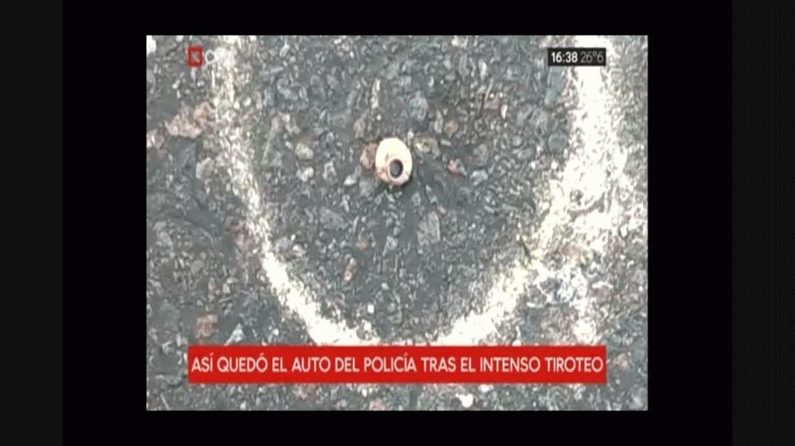 Así quedaron los autos tras el tiroteo en Liniers en el que murió un ladrón