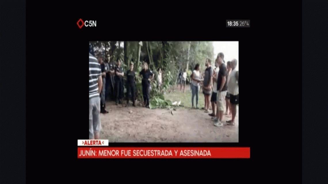 Conmoción en Junín: en 4 horas secuestraron a una nena y la degollaron al lado de su casa