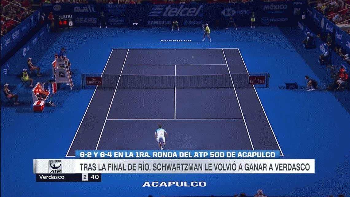 Del Potro y Schwartzman debutaron ganando en Acapulco
