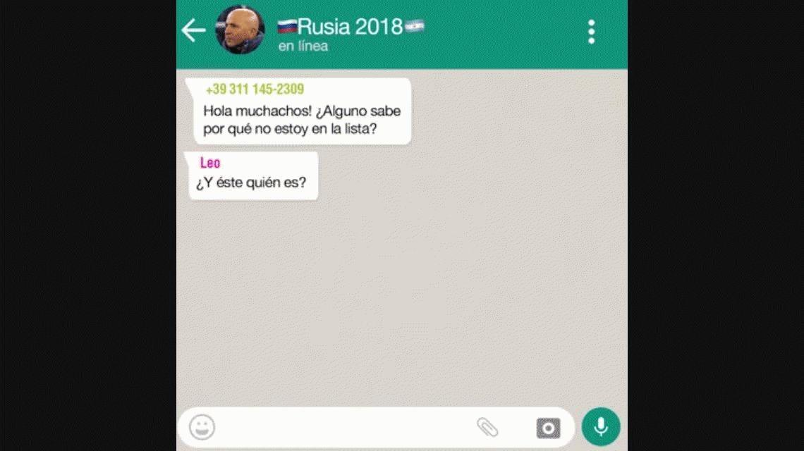 El WhatsApp de la Selección: La última lista antes del Mundial