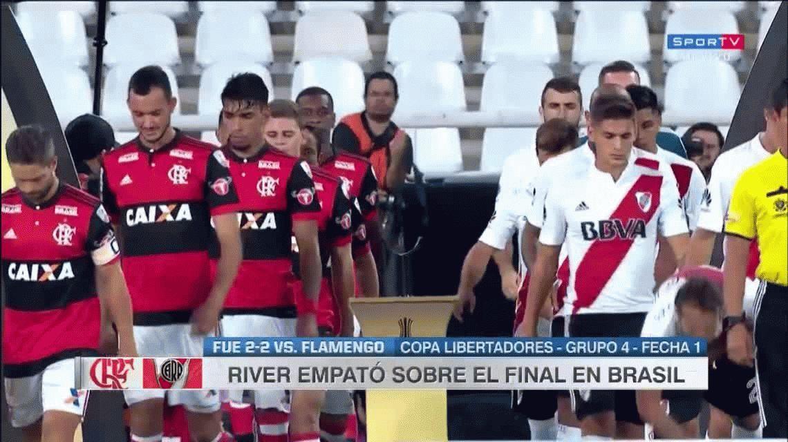 River empató con Flamengo en Brasil