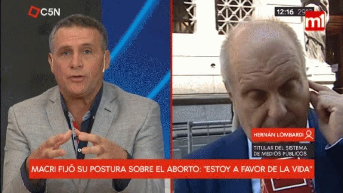 Tras el discurso de Macri, Hernán Lombardi dijo estar a favor de la legalización del aborto