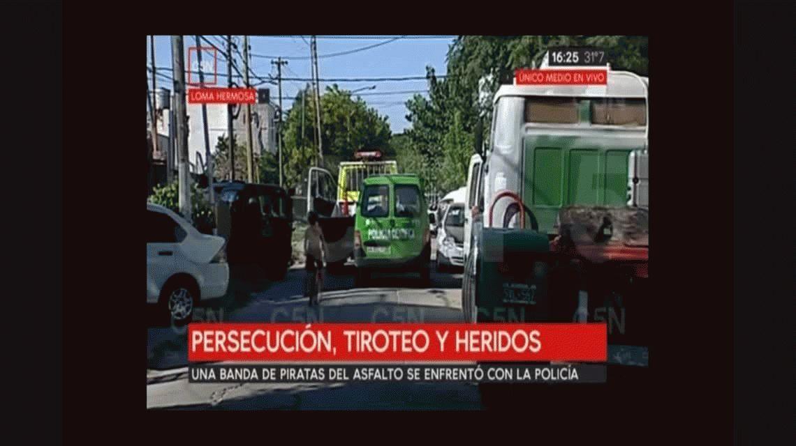 Loma Hermosa: tiroteo, persecución y choque entre policía y piratas del asfalto