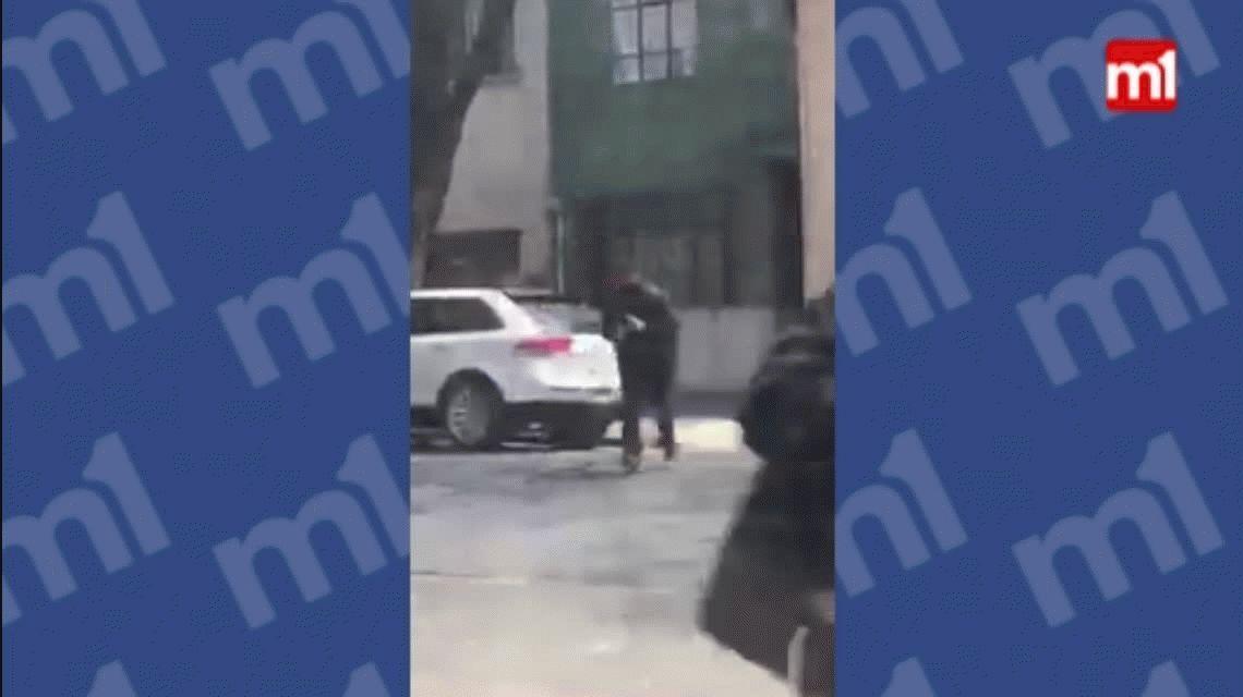 Grabó el momento en que le dispararon a su vecino para robarle