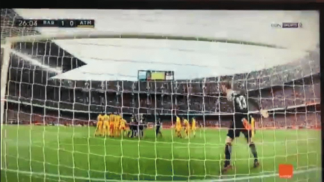El golazo de tiro libre de Messi ante el Atlético de Madrid