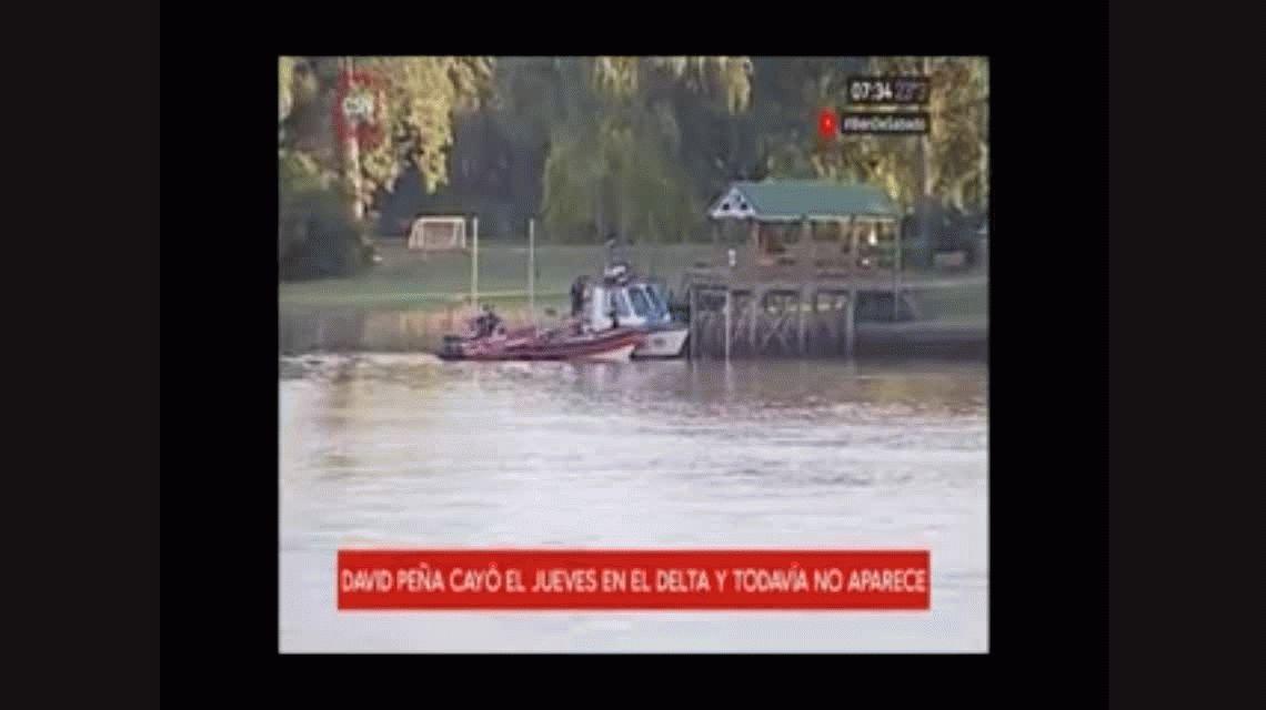 Río Luján: reanudaron la búsqueda David Peña, el joven que cayó de una fiesta en un barco