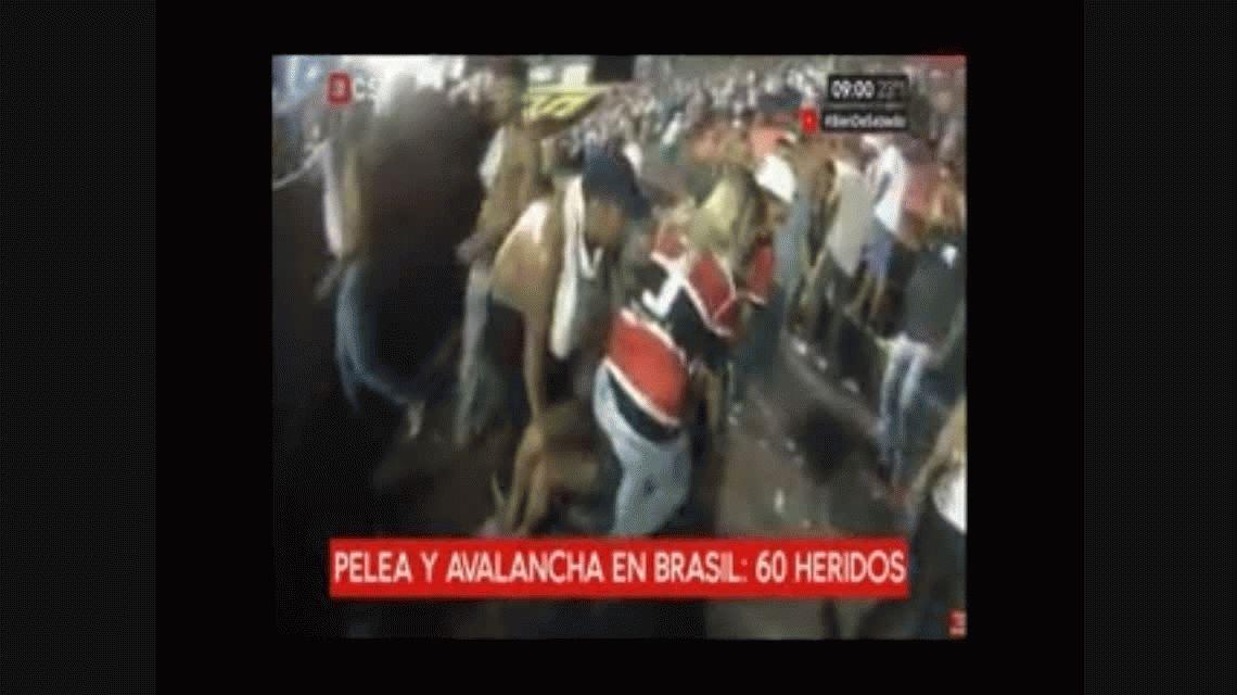 Brasil: una avalancha humana dejó 60 heridos en el clásico de Pernambuco