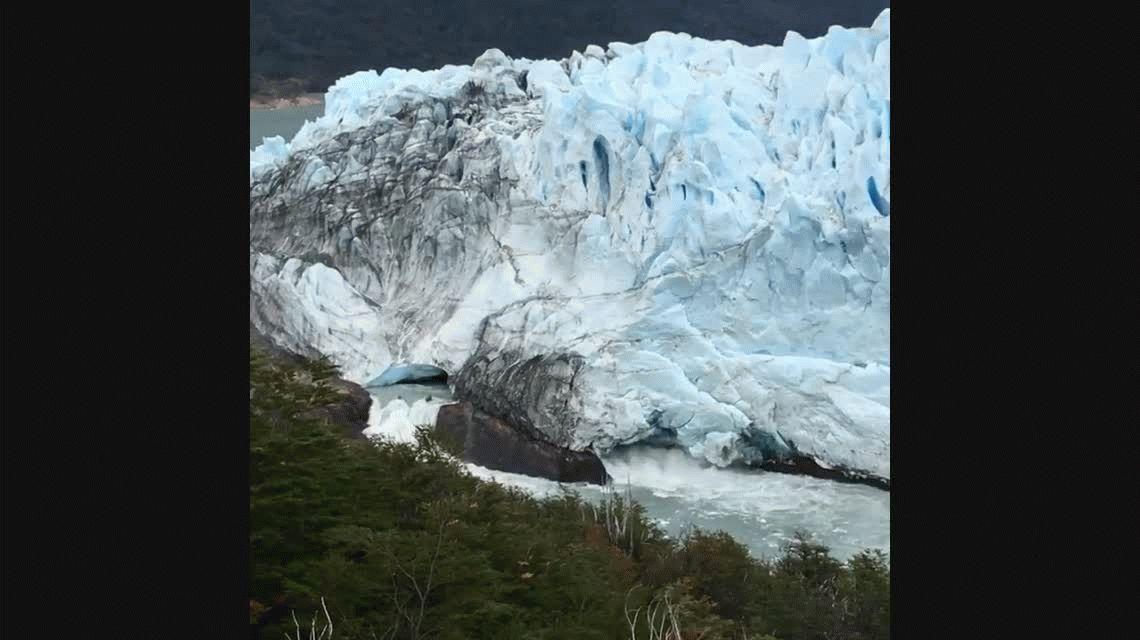 Preparen las cámaras: comenzó el derrumbe del glaciar Perito Moreno