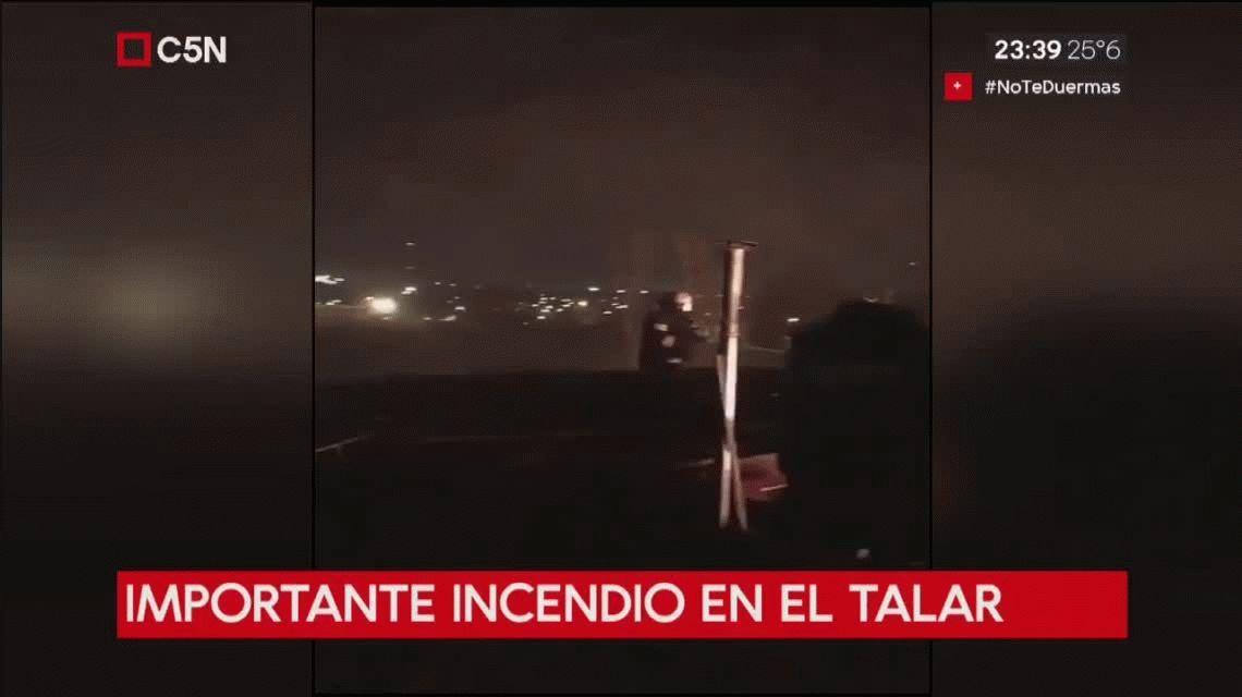 Importante incendio, con explosiones, en una fábrica de perfumes de El Talar de Pacheco