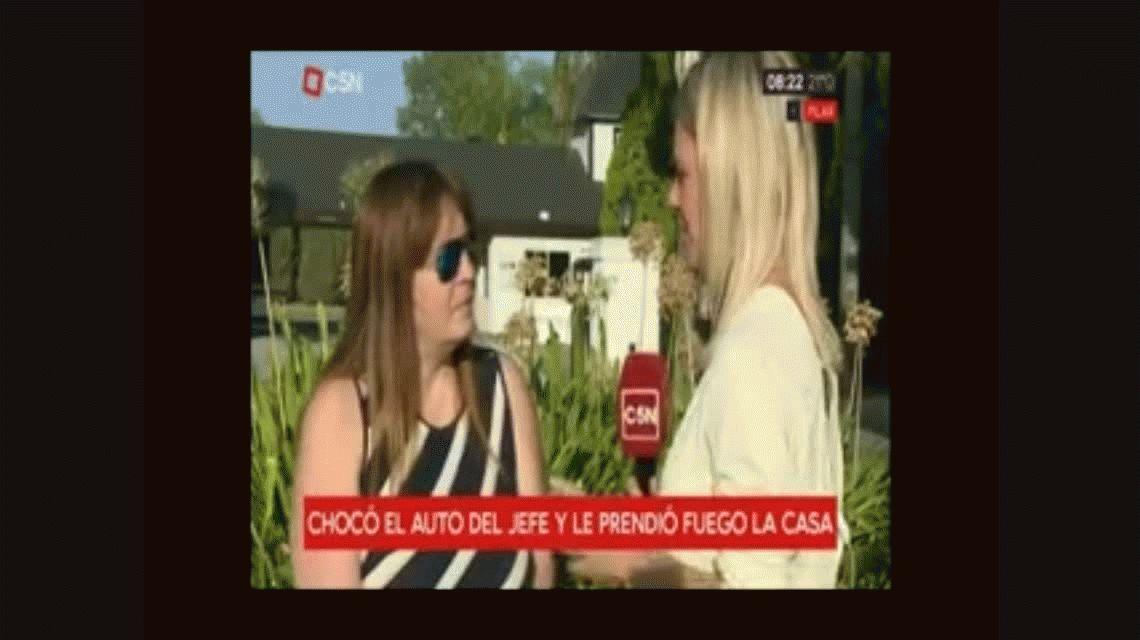Pilar: discutió con su jefe, le chocó el auto e incendió la casa