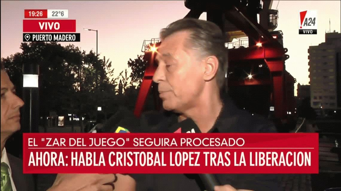 Cristóbal López, en libertad: No estuve preso, estuve secuestrado