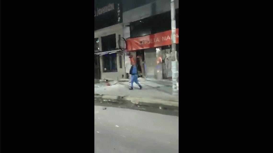 Explosión en un cajero automático de Ramos Mejía
